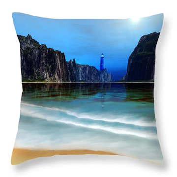 Coral Gables Throw Pillow by Corey Ford