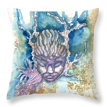 Throw Pillow featuring the painting Coral Head by Ashley Kujan
