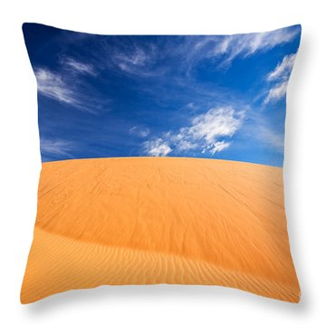 Throw Pillow featuring the photograph Coral Pink Sand Dunes State Park, Kanab, Utah by Bryan Mullennix