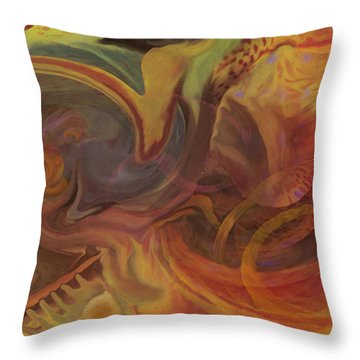 Throw Pillow featuring the digital art Coral Sea by David Klaboe