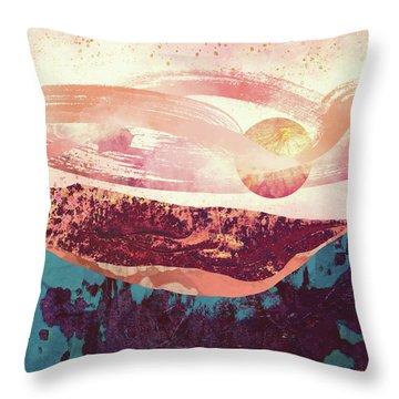 Coral Sky Throw Pillow