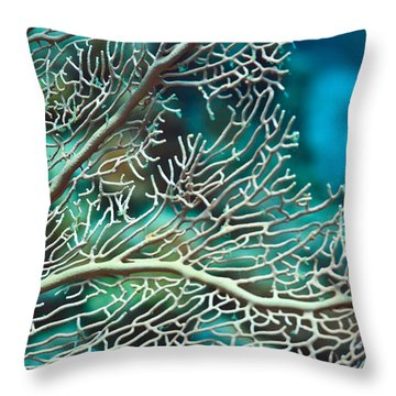 Coral Texture Throw Pillow by MotHaiBaPhoto Prints
