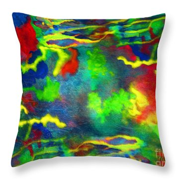 Coral Tides Throw Pillow