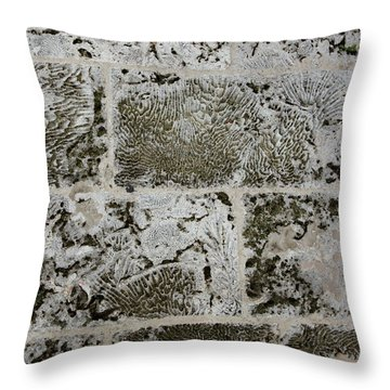 Coral Wall 205 Throw Pillow