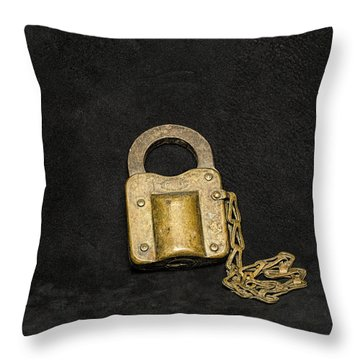 Corbin Padlock Throw Pillow