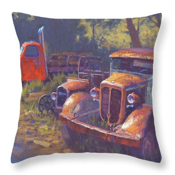 Corbitt And Friends Throw Pillow