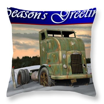 Throw Pillow featuring the digital art Corbitt Christmas Card by Stuart Swartz