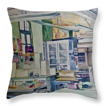 Corcoran School Of Art Ceramic Studio Back In The Days Throw Pillow