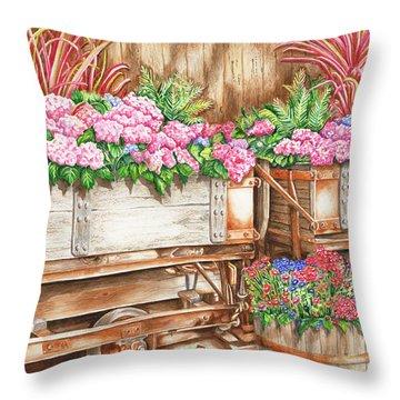 Cordelia's Train Throw Pillow