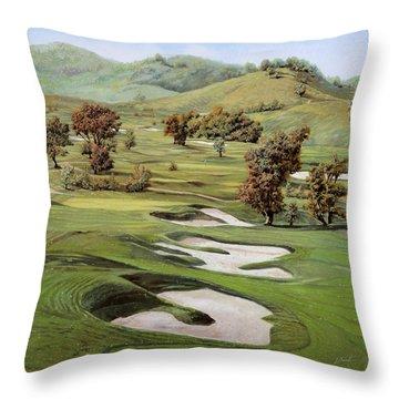 Cordevalle Golf Course Throw Pillow