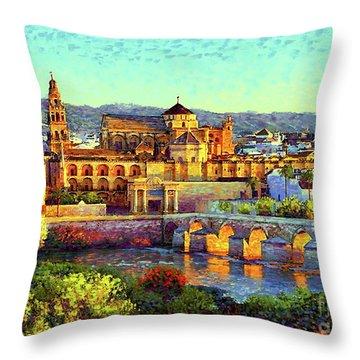 Cordoba Mosque Cathedral Mezquita Throw Pillow