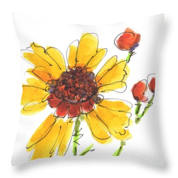 Coreopsis By Kathleen Mcelwaine Throw Pillow