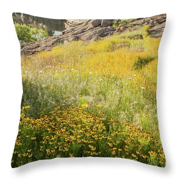 Corepsis Field Of Dreams Throw Pillow by Iris Greenwell