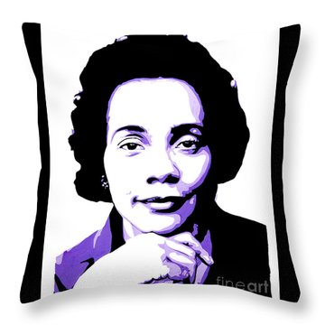 Coretta Scott King Throw Pillow