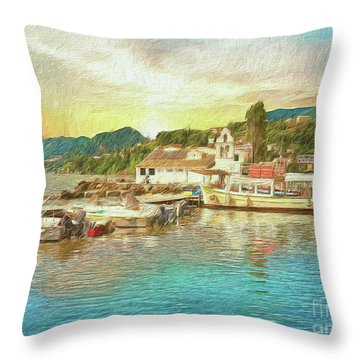 Corfu 30 My Passion Paintography Throw Pillow