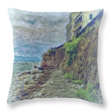 Corfu 33 - Corfu Rocks Throw Pillow
