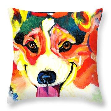 Corgi - Chance Throw Pillow by Alicia VanNoy Call