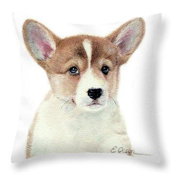 Corgi Pup Throw Pillow