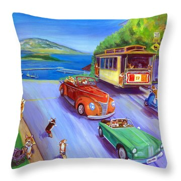 Trolley Car Throw Pillows