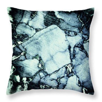 Cork Abstraction Throw Pillow by Wim Lanclus
