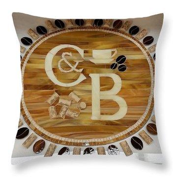 Cork And Beans Logo Throw Pillow