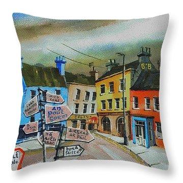 Cork... Glengarriff Signposts Throw Pillow