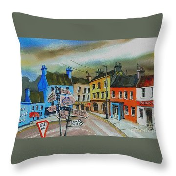 Cork... Glengarriff Signposts Throw Pillow