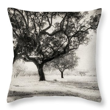 Cork Trees Throw Pillow by Celso Bressan
