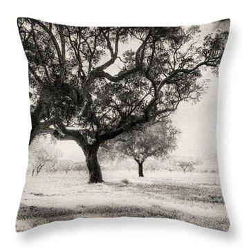 Cork Trees Throw Pillow