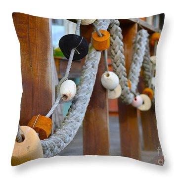 Corks Throw Pillow by Rick  Monyahan