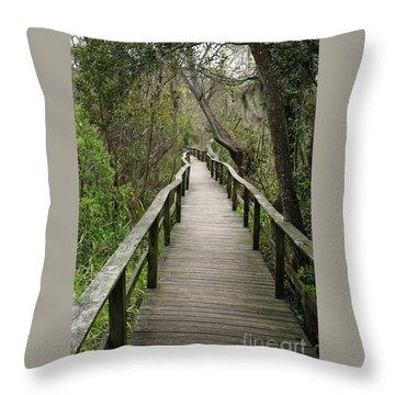 Corkscrew Boardwalk Throw Pillow