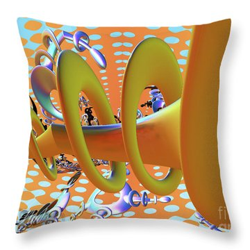 Corkscrew Throw Pillow by Melissa Messick