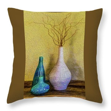 Throw Pillow featuring the photograph Corkscrew Willows by Paul Wear