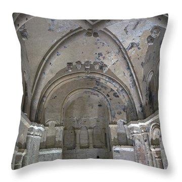 Cormac's Chapel At Rock Of Cashel Throw Pillow
