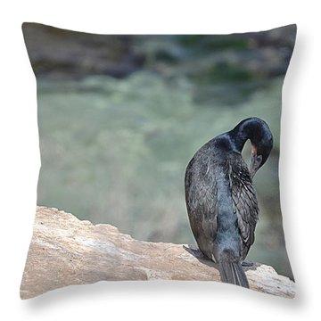 Cormorant Throw Pillow