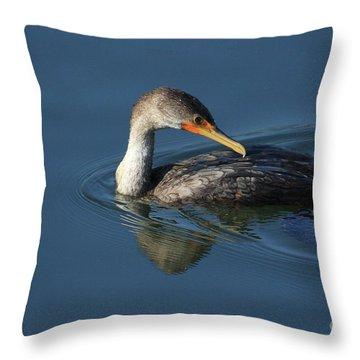 Cormorant  Throw Pillow by Karol Livote