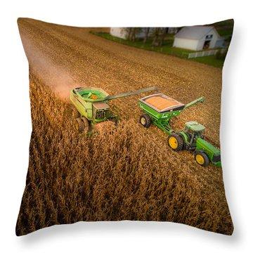 Corn Dust Throw Pillow