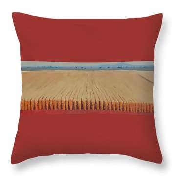 Corn Field Throw Pillow