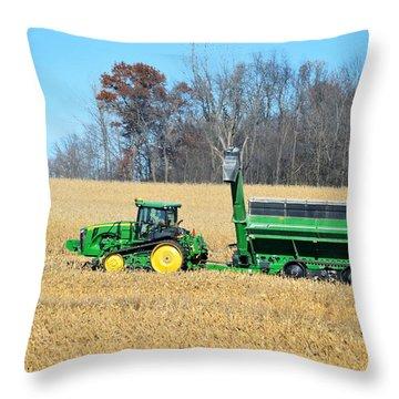 Corn Harvest Throw Pillow