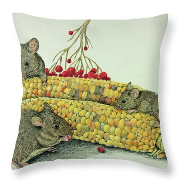 Corn Meal Throw Pillow