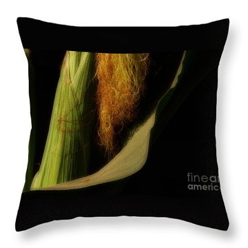 Corn Silk Throw Pillow by Linda Shafer