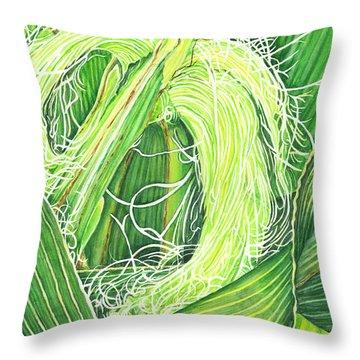 Corn Silk Throw Pillow