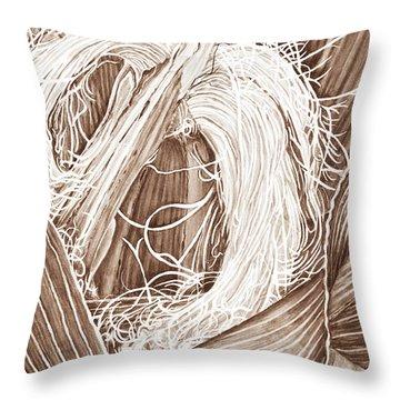 Corn Silk - Neutral Throw Pillow