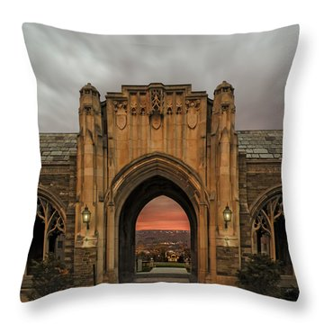 Cornell University Throw Pillow by Steven  Michael