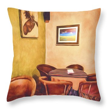 Corner Booth  ... Throw Pillow