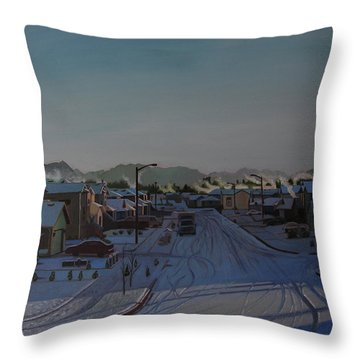 Corner Of 157th St. And 168th Ave. Throw Pillow by Thu Nguyen