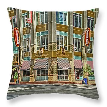 Corner Of 4th Throw Pillow by Karol Livote