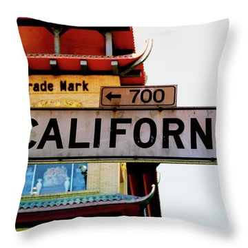 Corner Of California- Art By Linda Woods Throw Pillow