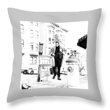 Corner Of Clay And Taylor Throw Pillow by Kurt Ramschissel