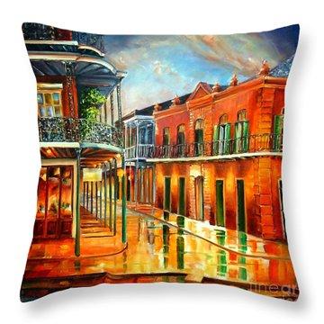 Corner Of Jackson Square Throw Pillow by Diane Millsap